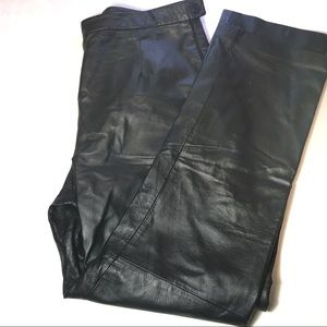 Clio Leather Pants Black Size 10 vintage